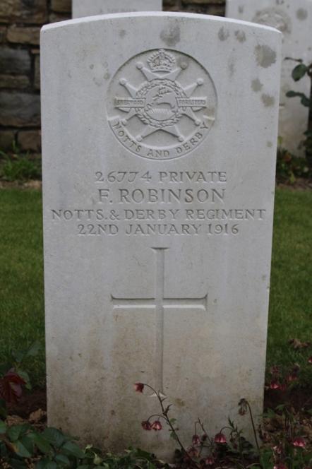 gravestone f robinson