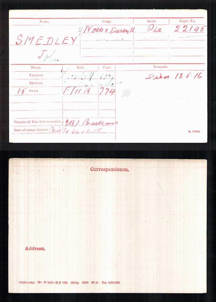 MEDAL CARD