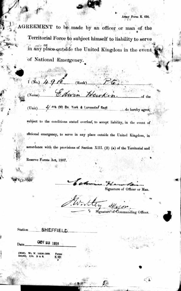 Imperial service declaration