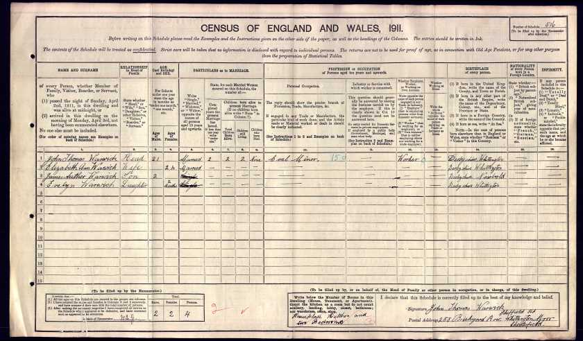 1911 census married