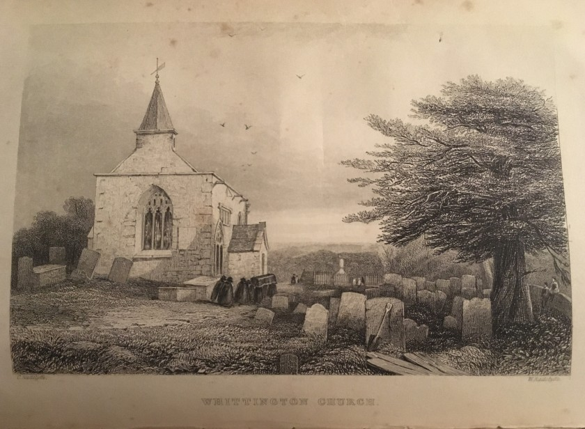 whittington church etching