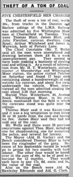 belper news 26 april 1935theft of a ton of coal