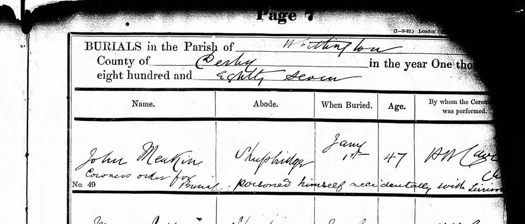 parish reg for meakin