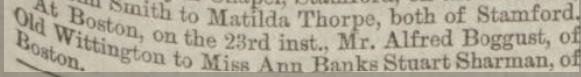 wedding lincolnshire chronice;e 29 oct 1875