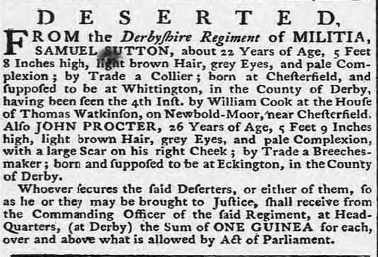 4.12.1778 deserters derby mercury