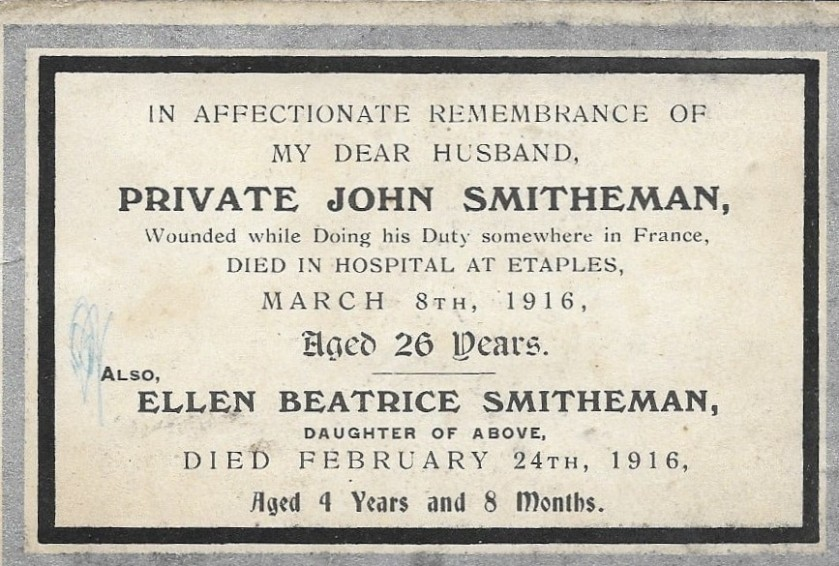 memorial plaque to john and daughter